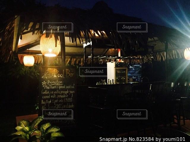 建物は夜ライトアップの写真・画像素材[823584]