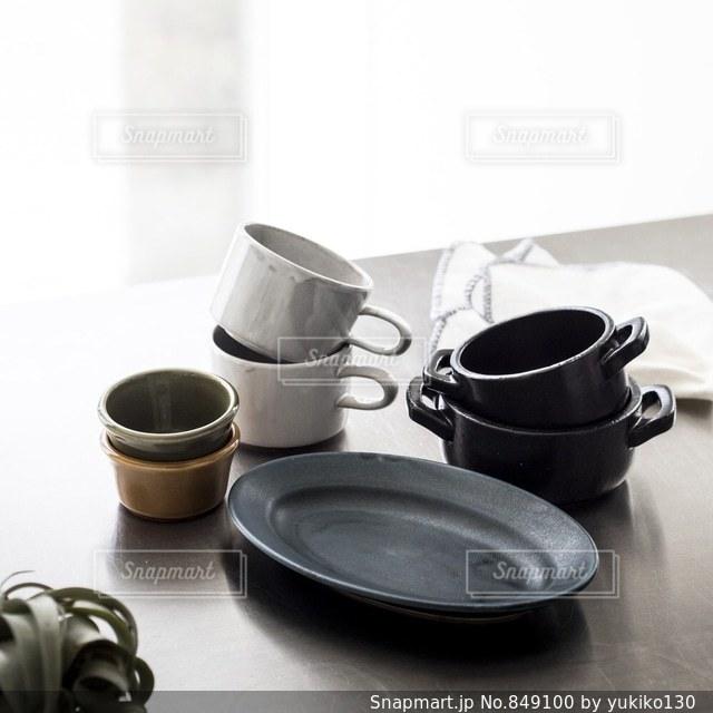 男前インテリアな食器の写真・画像素材[849100]