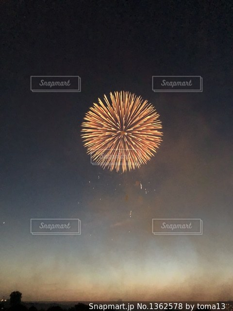 Iphoneで花火撮ったの写真・画像素材[1362578]