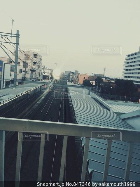 鉄道と空の写真・画像素材[847346]