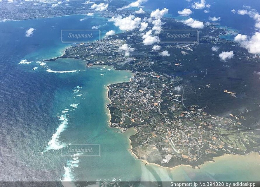 風景,海,空,夏,飛行機,沖縄,sea