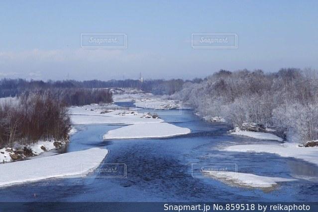 雪に覆われたフィールドの写真・画像素材[859518]