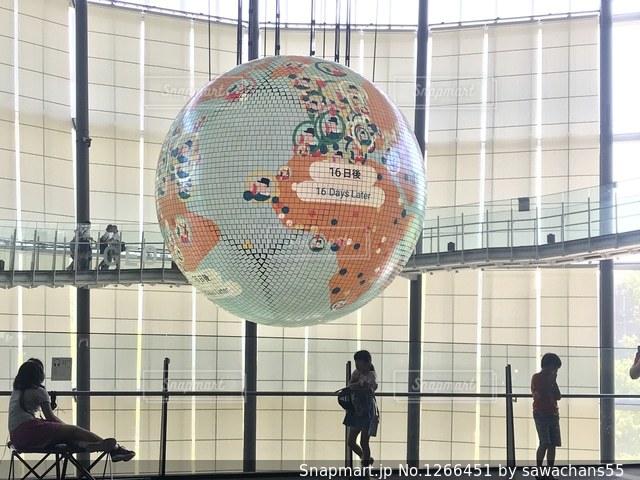 地球儀とシルエットの写真・画像素材[1266451]