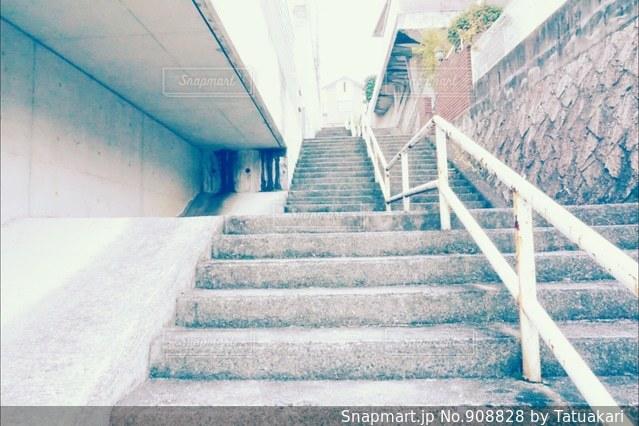 階段のある道の写真・画像素材[908828]
