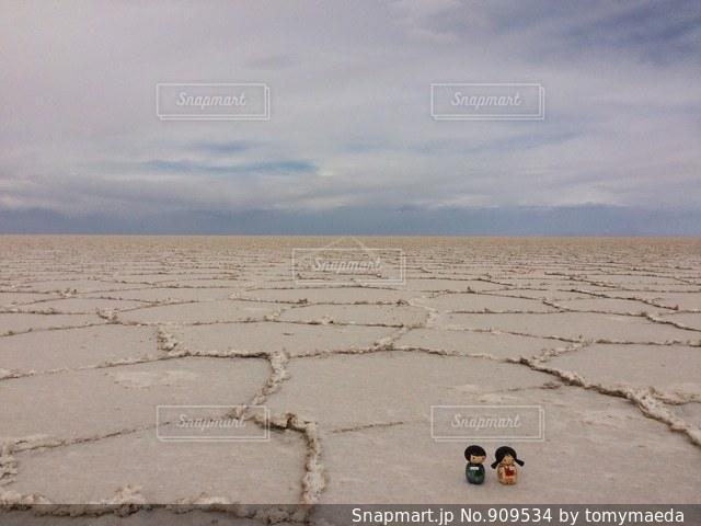塩の地平線の写真・画像素材[909534]