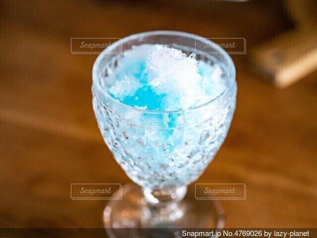 かき氷ブルーハワイ味の写真・画像素材[4769026]