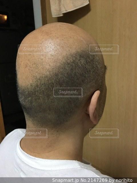 禿げ頭 後ろからの写真・画像素材[2147269]