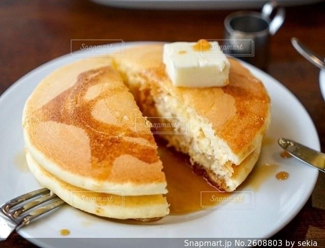 レトロなホットケーキの写真・画像素材[2608803]