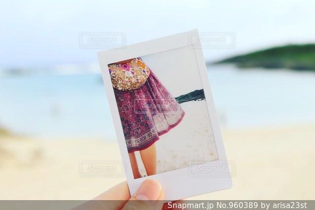 砂浜とチェキ - No.960389