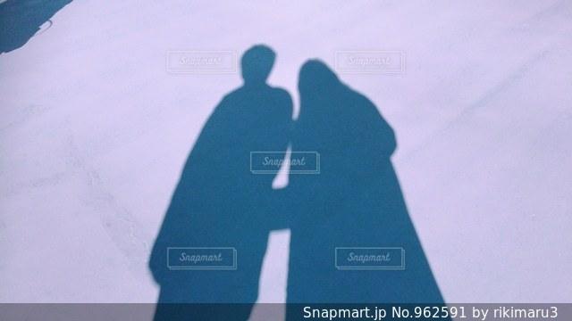 カップルの影の写真・画像素材[962591]