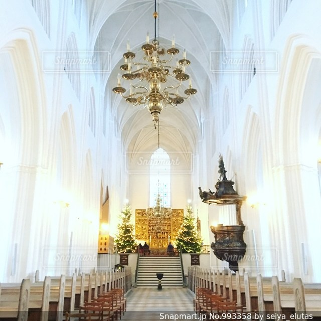 デンマークの教会の写真・画像素材[993358]