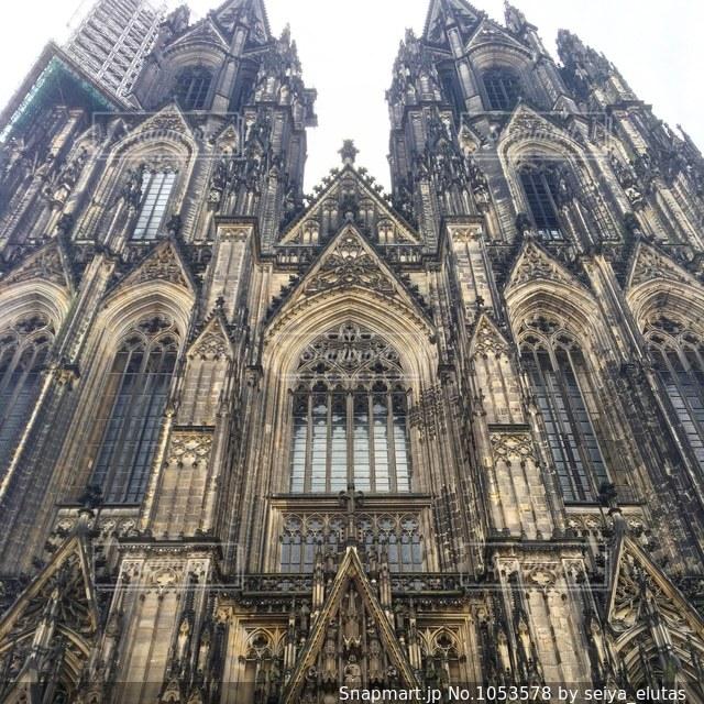ドイツにある世界遺産、ケルン大聖堂の写真・画像素材[1053578]