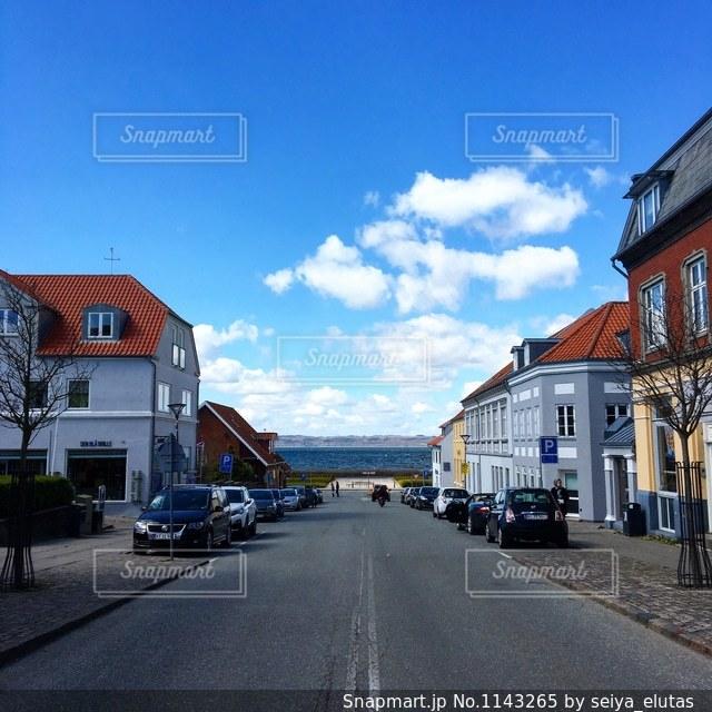 デンマークにある小さな街エーベルトフトの写真・画像素材[1143265]