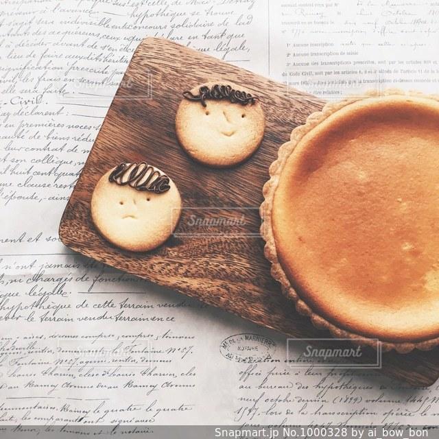 もじゃチーズけーきの写真・画像素材[1000328]