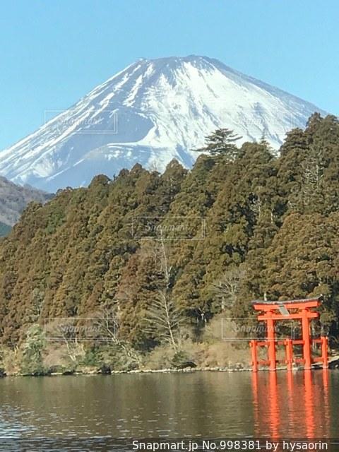 富士山と鳥居 - No.998381