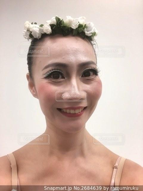 バレエの舞台メイクの写真・画像素材[2684639]