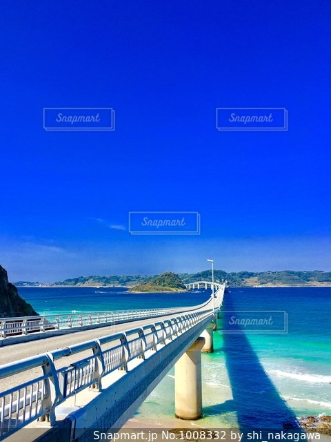 角島大橋の写真・画像素材[1008332]