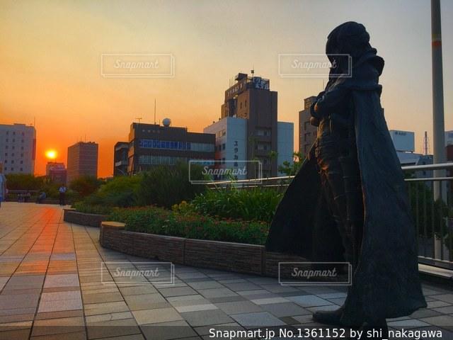 キャプテンハーロックと夕日の写真・画像素材[1361152]