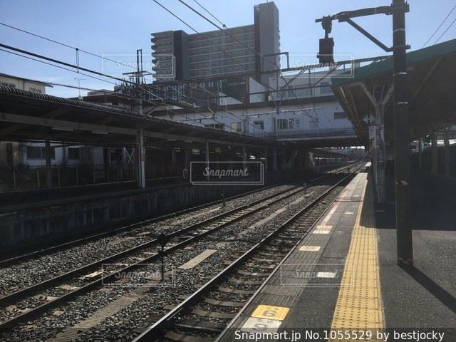 駅のホームの写真・画像素材[1055529]