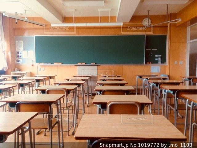 放課後の教室の写真・画像素材[1019772]