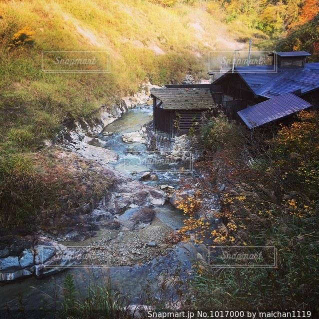 川辺の温泉の写真・画像素材[1017000]