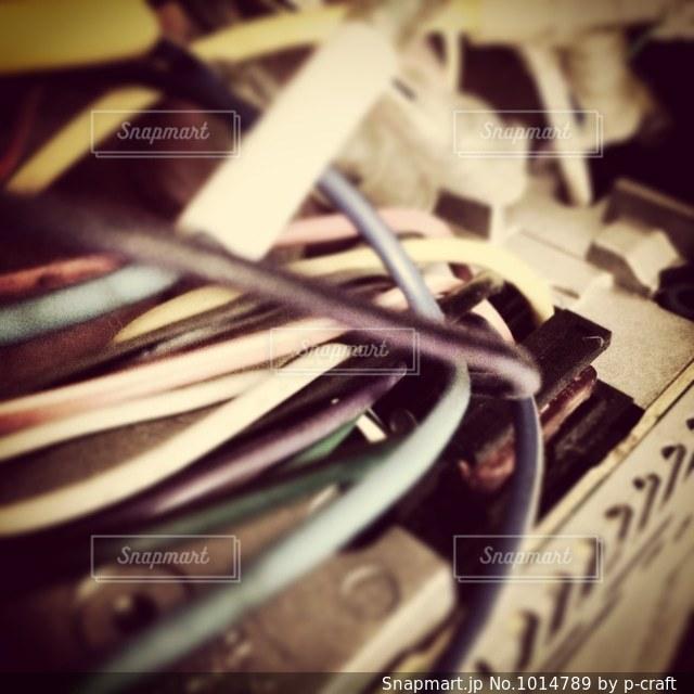 配線のアップの写真・画像素材[1014789]