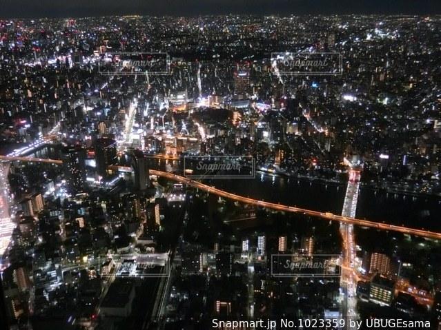 スカイツリーからの夜景の写真・画像素材[1023359]