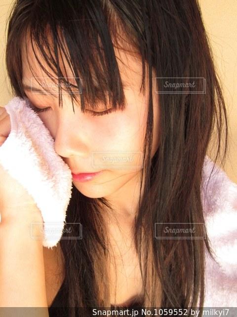 お風呂上がりの写真・画像素材[1059552]