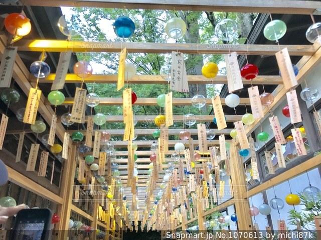氷川神社の風鈴の写真・画像素材[1070613]
