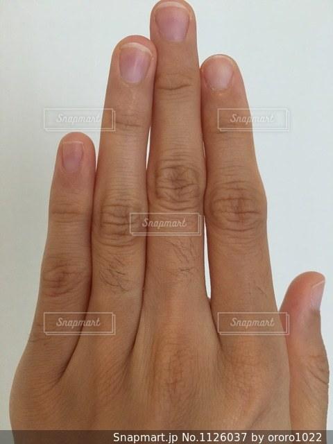 指のムダ毛の写真・画像素材[1126037]
