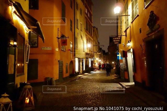 ストックホルム 夜の街の景色の写真・画像素材[1041075]