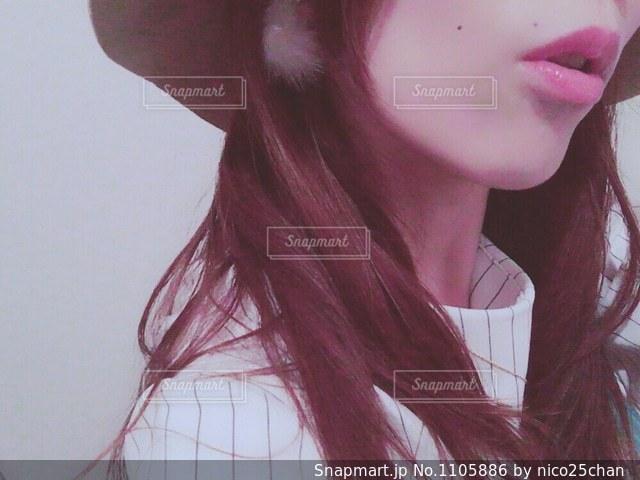 口元の写真・画像素材[1105886]