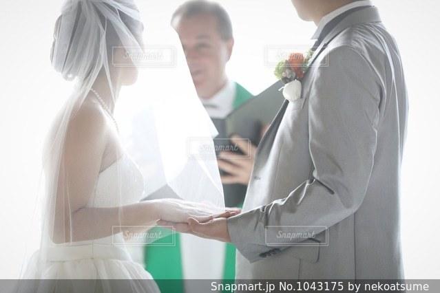 結婚式 誓いの言葉の写真・画像素材[1043175]