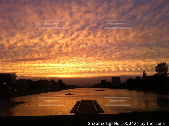 漕艇場の写真・画像素材[1050424]