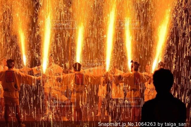 伝統手筒花火、秋葉祭、知立の写真・画像素材[1064263]