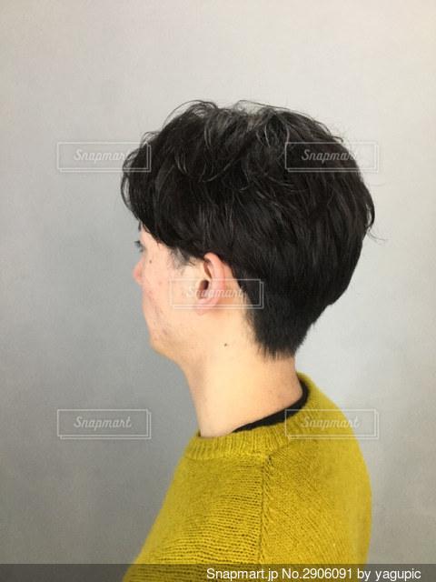 メンズヘアスタイルの写真・画像素材[2906091]