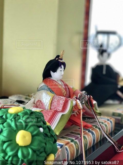お雛様とお内裏様の写真・画像素材[1073953]