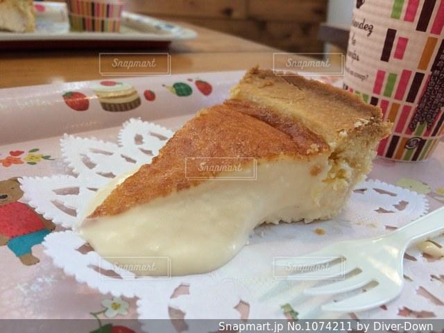 半熟チーズケーキの写真・画像素材[1074211]