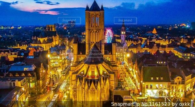 夜の街の写真・画像素材[1161523]