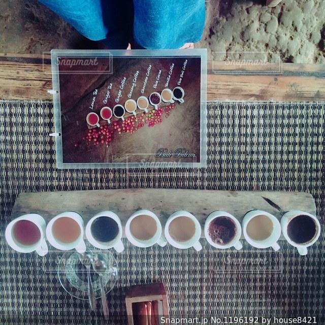 超高級ジャコウネココーヒー飲み比べの写真・画像素材[1196192]