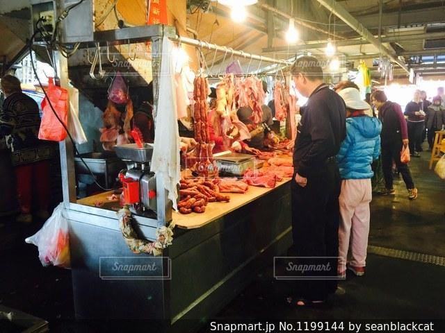 台湾の伝統市場の写真・画像素材[1199144]