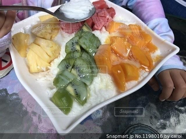 冰讃の綜合水果雪花冰の写真・画像素材[1198016]