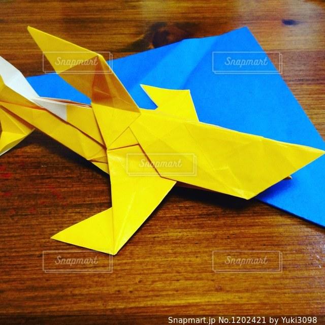 サメの折り紙の写真・画像素材[1202421]