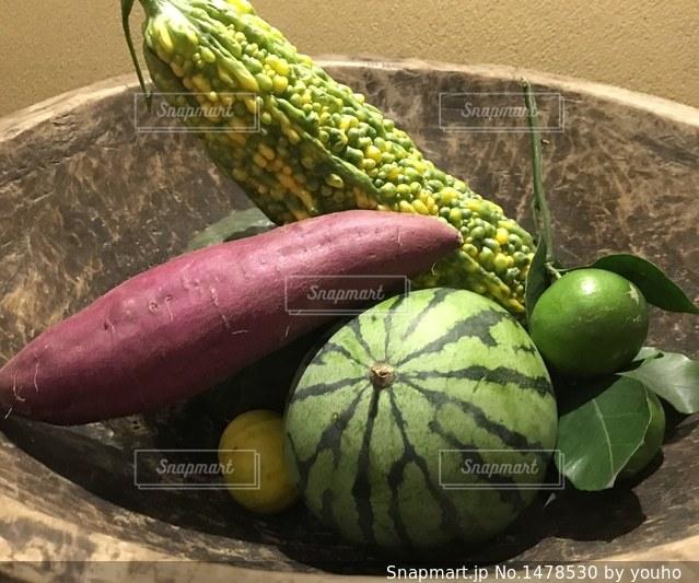 夏から秋の食べ物の写真・画像素材[1478530]