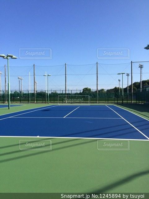 テニスコートの写真・画像素材[1245894]