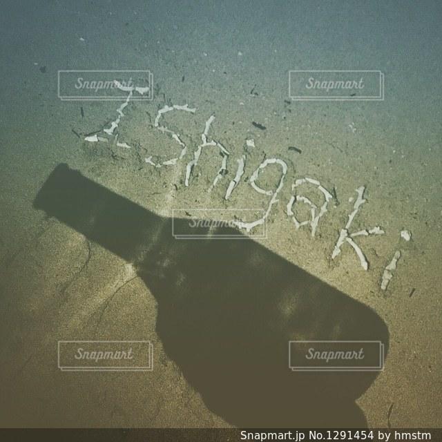 貝殻と影のアートの写真・画像素材[1291454]