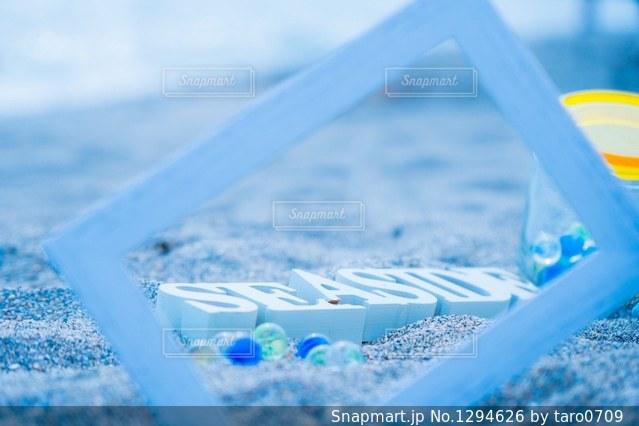 ビーチ フレームの写真・画像素材[1294626]