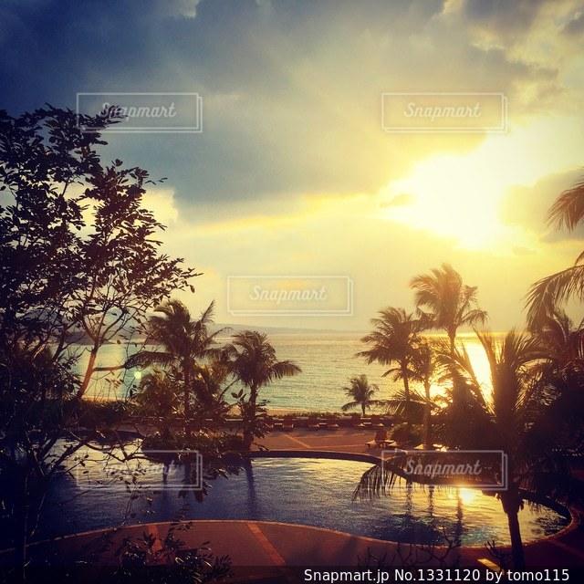 沈む夕日の写真・画像素材[1331120]