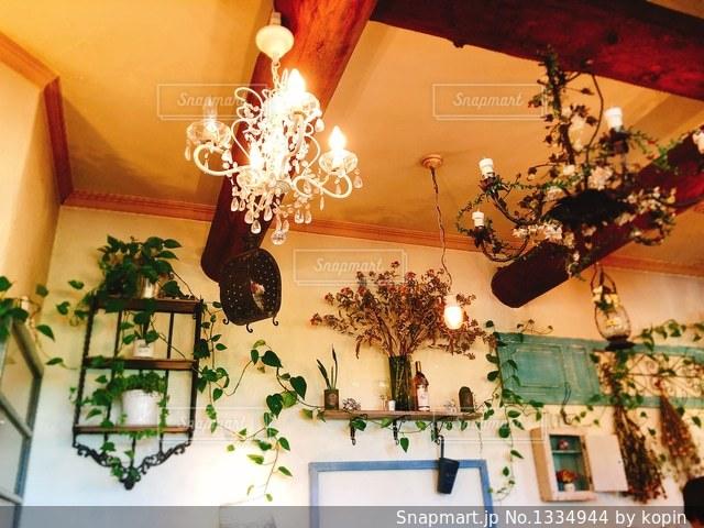 天井のステキな飾り達✨の写真・画像素材[1334944]