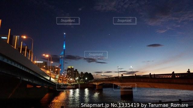 福岡タワー夜景の写真・画像素材[1335419]